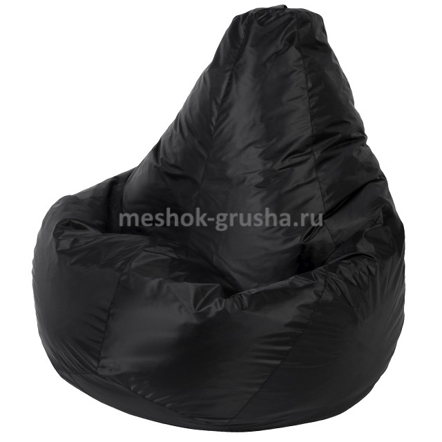 Кресло Мешок Груша Черное (Оксфорд) (L, Классический)