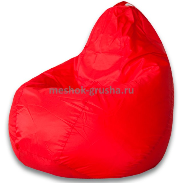 Кресло Мешок Груша Красное (Оксфорд) (XL, Классический)
