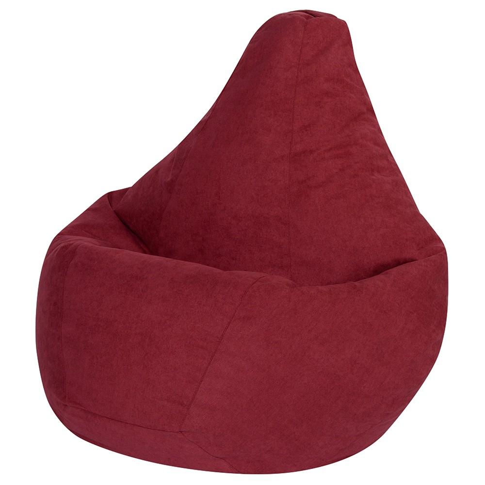 Кресло Мешок Груша Бордовый Велюр (L, Классический)