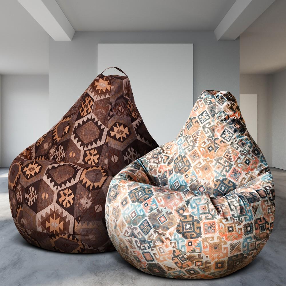 2 Кресла-Мешка по цене 1, Ясмин и Мехико Коричневое (Классический)