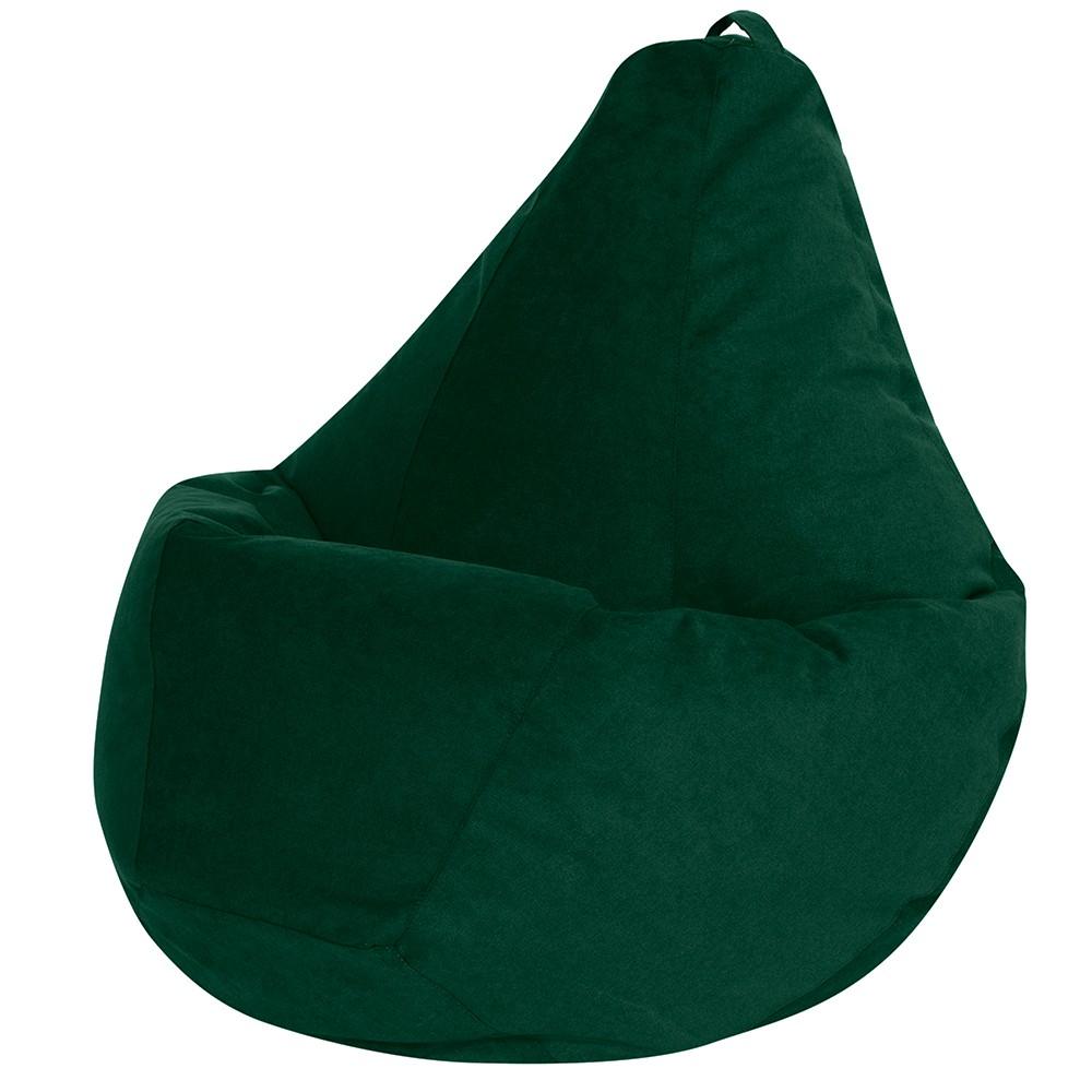 Кресло Мешок Груша Зеленый Велюр (L, Классический)