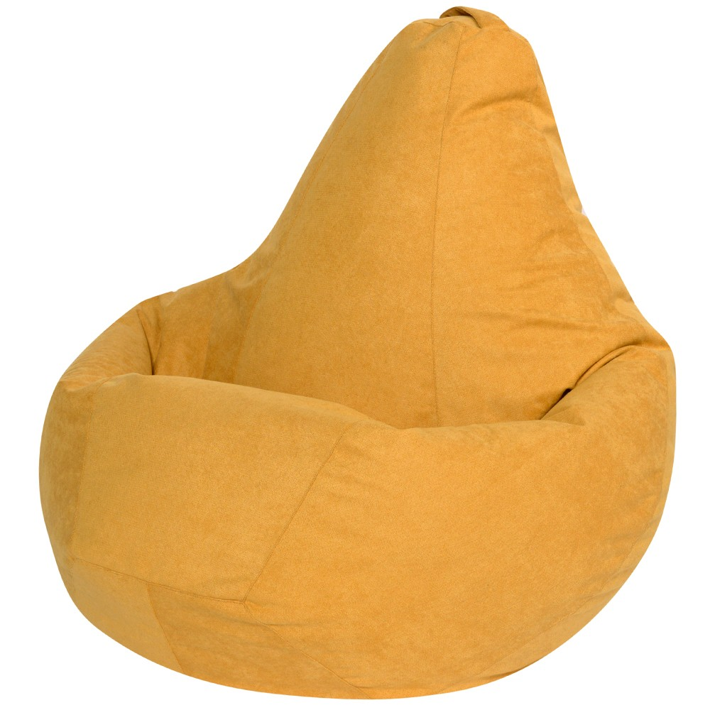Кресло Мешок Груша Желтый Велюр (3XL, Классический)
